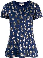 MICHAEL Michael Kors sequin leopard print T-shirt - women - Cotton/Modal/plastic - XS