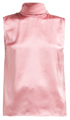 Roksanda Merla Neck-tie Silk Top - Pink