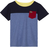 Lacoste Block panel cotton T-shirt 4-16 years