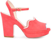 Fendi open-toe sandals - women - Leather/Suede - 40