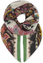 Etro Ladies Grey Paisley Luxurious Modal And Cashmere-Blend Scarf