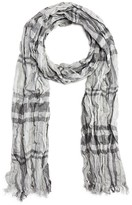 John Varvatos Exploded Plaid Crinkled Scarf