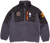 U.S. Polo Assn. Charcoal & Black Fleece Puffer Coat - Toddler & Boys