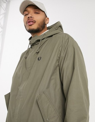Fred Perry lightweight parka in light brown
