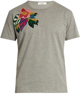 Valentino Floral-appliqué cotton T-shirt