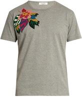 Valentino Floral-appliqué cotton T-shirt