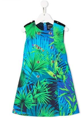 Versace Palm Tree Printed Dress