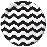 Black Cheveron Stripes Disposable Plates - 8 Count