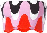 Emilio Pucci printed bandeau top - women - Polyester/Rayon - XS