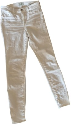 Abercrombie & Fitch White Cotton Jeans for Women
