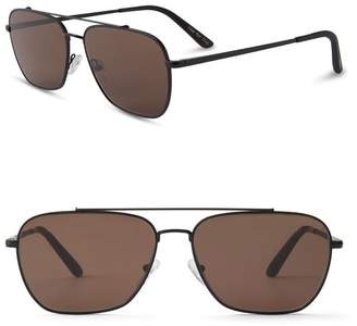 Toms 56mm Irwin Aviator Sunglasses
