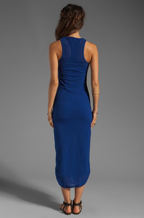 291 Circle Mesh Racerback Maxi Dress
