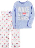 Carter's Baby Girl 2-pc. Printed Top & Fleece Pants Pajama Set