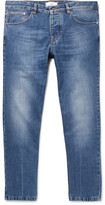 Ami Tapered Cropped Denim Jeans - Blue