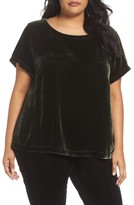 Eileen Fisher Plus Size Women's Velvet Top