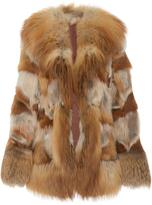 Anna Sui Oversized Lapel Fox Fur Coat