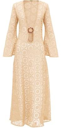 Dodo Bar Or Jane Cotton-crochet Maxi Dress - Beige