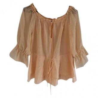 Alice + Olivia Orange Silk Top for Women