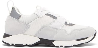 Marni Suede-panelled Mesh Trainers - White