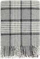 DREAMWOOL Blanket Co. Grey Checkered Wool Throw