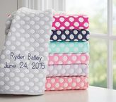 Pottery Barn Kids Dot Repeat Jacquard Baby Blanket