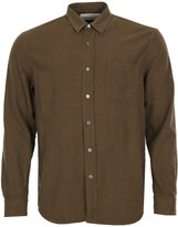Our Legacy Classic Shirt Raw Silk 1173CSDOSN Dark Olive