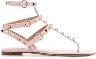 Valentino Rockstud triple-strap sandals