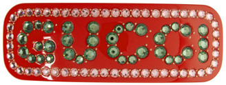 Gucci Red Large Crystal Barrette