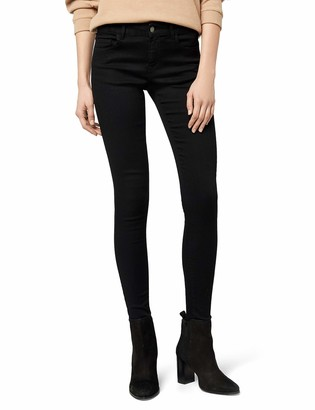 Pieces Women's Pcfive Soft Mw Skn Jeans Blk Tb/noos Skinny