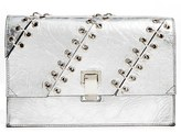 Proenza Schouler 'Small Lunch Bag' Crackled Metallic Leather Clutch - Metallic