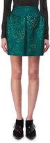DELPOZO Lurex Floral Jacquard Miniskirt