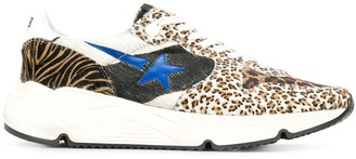 Golden Goose Leopard Print Low Top Sneakers