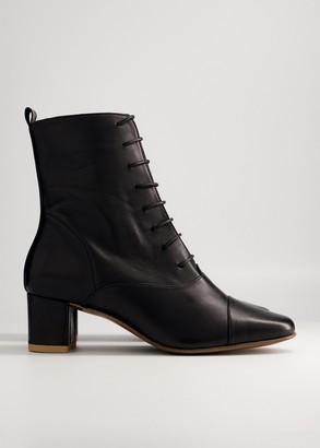 BY FAR Women's Lada Leather Boot in Black, Size 36