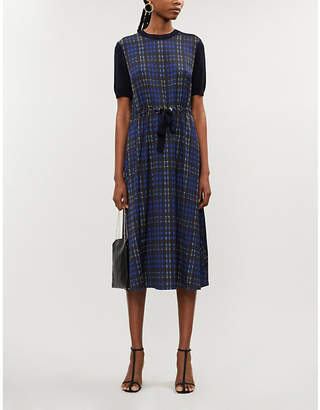 Ted Baker Cohil checked stretch-crepe midi dress