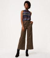 LOFT Petite Wide Leg Crop Belted Pants