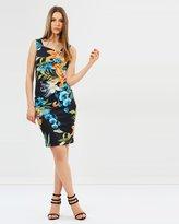 Karen Millen Tropical Lily Pencil Dress