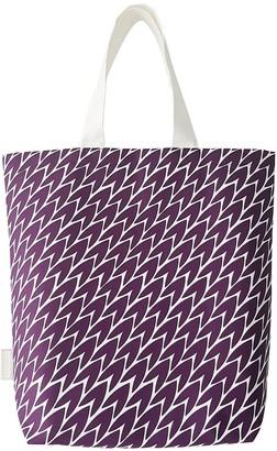 Laura Jackson Design Leaf Tote Bag Plum