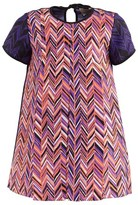 Roksanda Ilincic Purple Silk Herringbone Shift Dress