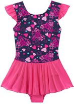 Jacques Moret Girls 4-14 Bow & Hearts Skirtall Leotard