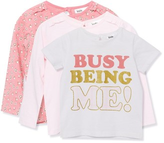 M&Co Slogan floral t-shirts three pack (9mths-5yrs)
