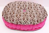 Bacati Damask Pink/Chocolate Floor Pillow