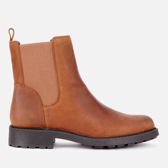 Clarks Women's Orinoco 2 Top Leather Chelsea Boots - Brown Snuff