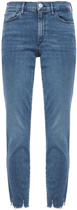 3x1 Eliza Cropped Frayed Mid-rise Skinny Jeans