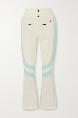 Perfect Moment Aurora Two-tone Padded Flared Ski Pants - White