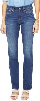 NYDJ Marilyn High Waist Slit Cuff Straight Leg Jeans