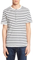 French Connection Men's Stripe Henley Top