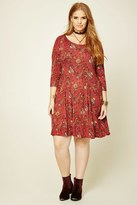 Forever 21 FOREVER 21+ Plus Size Floral Paisley Dress