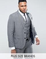 Harry Brown Plus Check Suit Jacket
