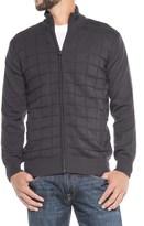 Vintage 1946 Block Knit Cardigan Sweater - Zip Front (For Men)