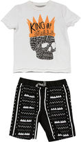 Amy Coe King of Skulls Graphic Tee and Shorts Set - Baby Boy 3m-24m